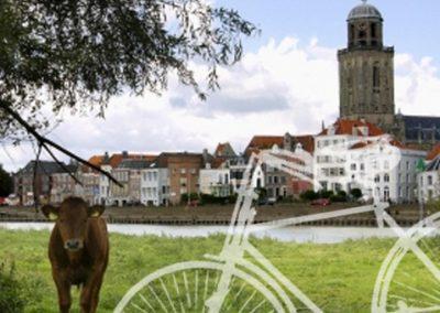 Fiets voor Deventer skyline