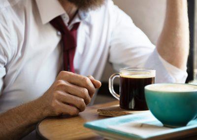 Vergaderen met koffie